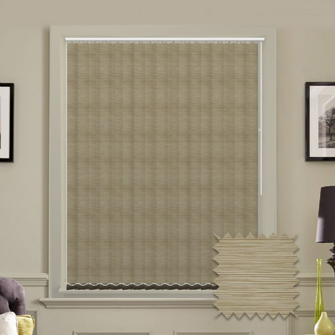 Made to Measure Morocco Egg Shell Vertical Blind